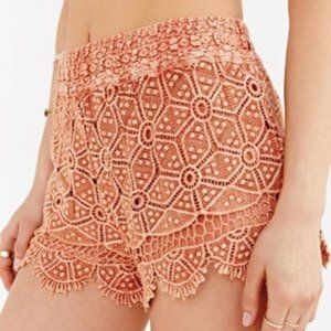 Urban Outfitters Washed Eyelet Runner Shorts Small